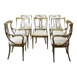 1960s Vintage Lodge of Silver and Gold in the Leafed Finish Chairs- Set of 8 For Sale