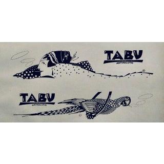 1923 Original German Poster, Tabu Doodle #3, (Elephant, Art Deco Fashion) For Sale