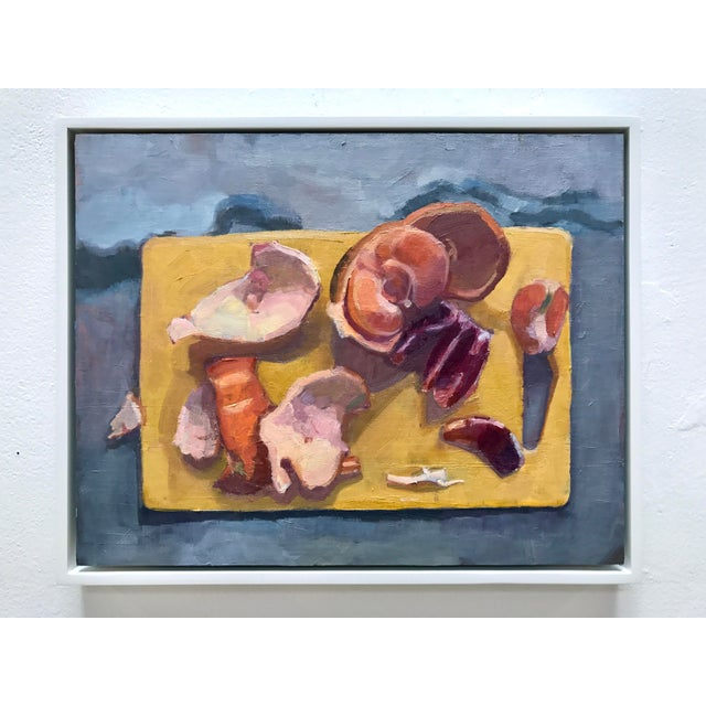 """Impressionism """"Cutting Board Ii"""" Original Citrus Fruit Oil Painting For Sale - Image 3 of 5"""