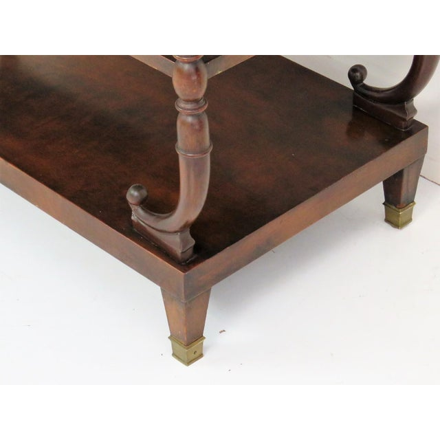 Directoire Style Marble Top Mahogany Drop Leaf Server Table - Image 6 of 8