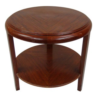 1930s Art Deco Mahogany Side Table Signed Louis Majorelle For Sale