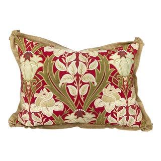 Antique Art Deco Fabric Pillow For Sale