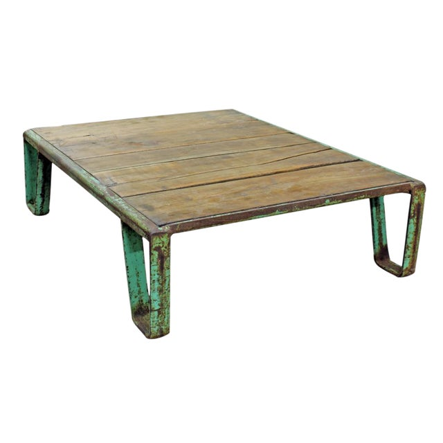 Vintage Industrial Pallet Coffee Table - Image 1 of 3