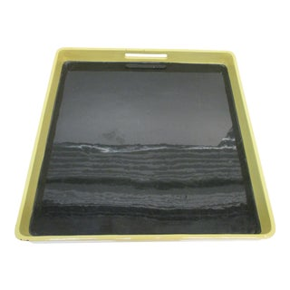 Lacquered Serving Tray by Mitchell Gold & Bob Williams With Handles For Sale