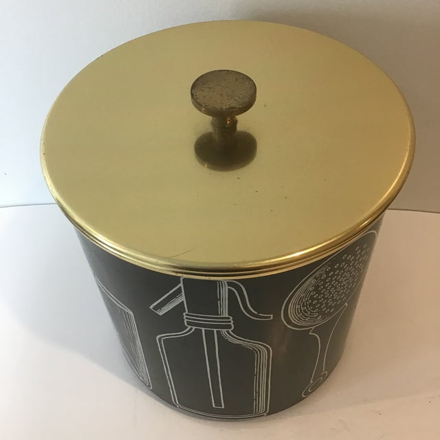 Fornasetti Vintage Mid-Century Ice Bucket For Sale - Image 9 of 11