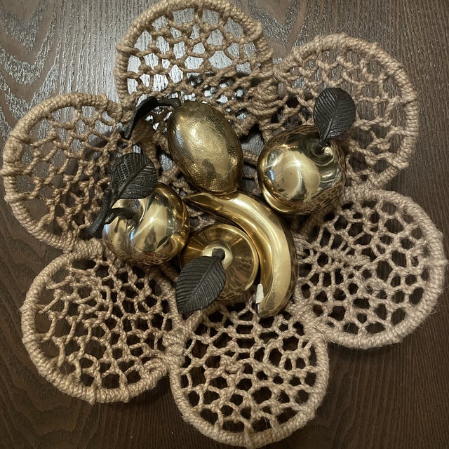 Metal Vintage 1990s Brass Fruit - 5 Pieces For Sale - Image 7 of 8