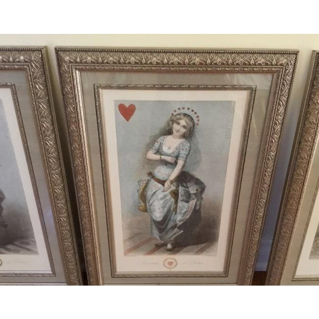 Victorian Framed Playing Cards Prints - Set of 4 For Sale - Image 3 of 3