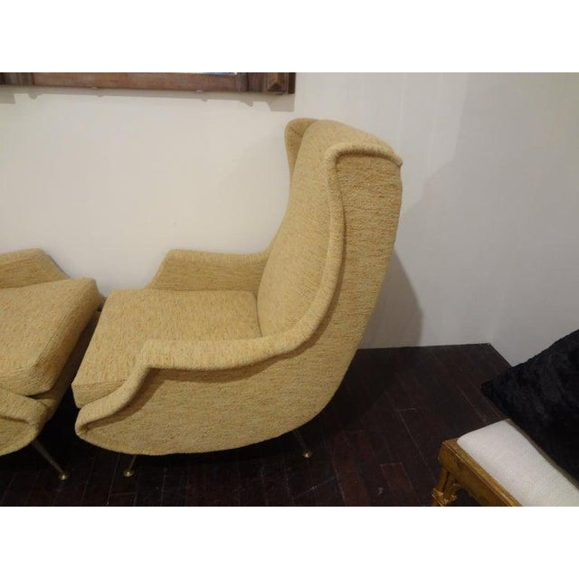 Minotti 1960s Vintage Minotti Style Italian Modern Lounge Chairs- A Pair For Sale - Image 4 of 10