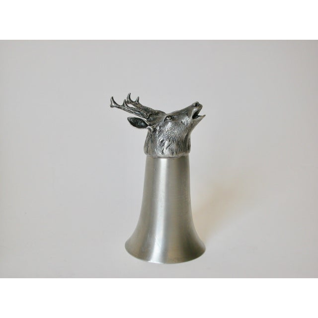 English Traditional Stag Pewter Stirrup Cups - Set of 7 For Sale - Image 3 of 11