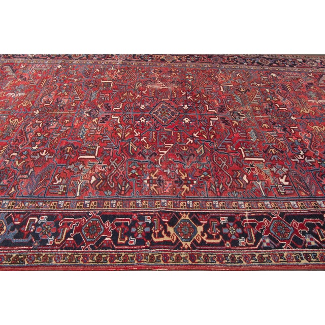 "Vintage Red Apadana Persian Rug - 8'2"" X 12' - Image 4 of 10"