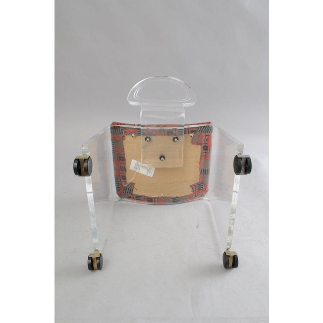 Hill Mfg. Lucite Vanity Chair Round Back Rolling Casters Mid Century Modern Vintage - Image 2 of 11