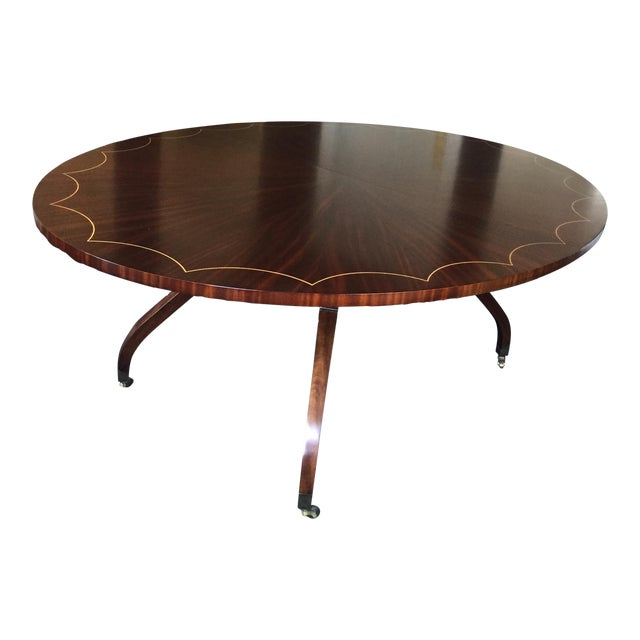 Oval Dining Table With 2 Leaves - Image 1 of 5