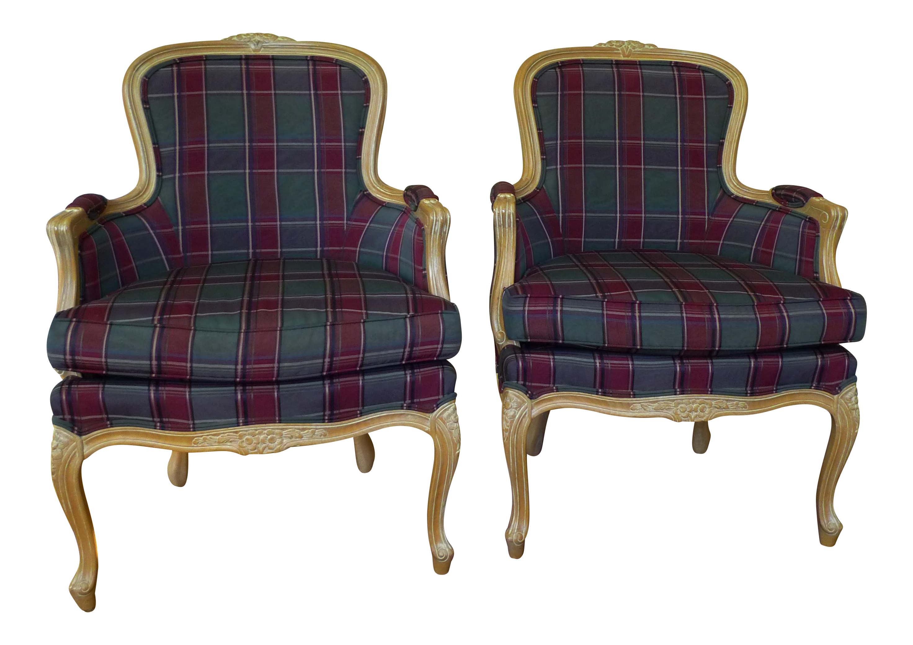 Ethan Allen French Chairs   A Pair