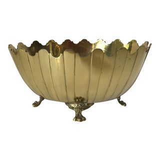 Brass Scalloped Footed Bowl