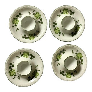 Mid 20th Century Bavarian Bone China Egg Cups - Set of 4 For Sale