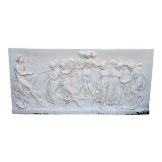 Bertel Thorwaldsen Apollo & Muses Resin Relief