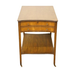Mid Century Vintage Kittinger Solid Mahogany End Table For Sale