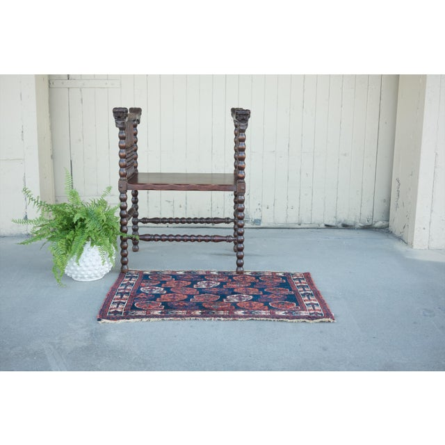 """Antique Perisan Mat Small Rug - 2'x3'2"""" - Image 5 of 5"""