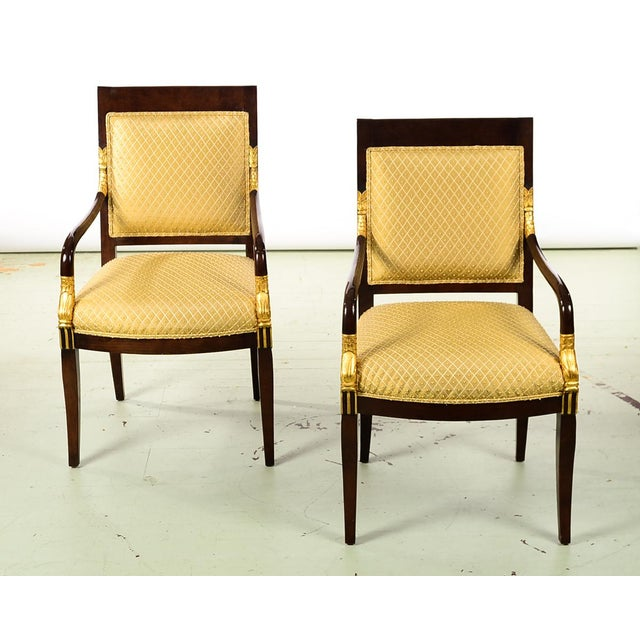 """French Empire Mahogany Chairs -A pair size 22w x 20d x 38""""h seat height 20"""" A beautiful piece that will add to your décor!"""