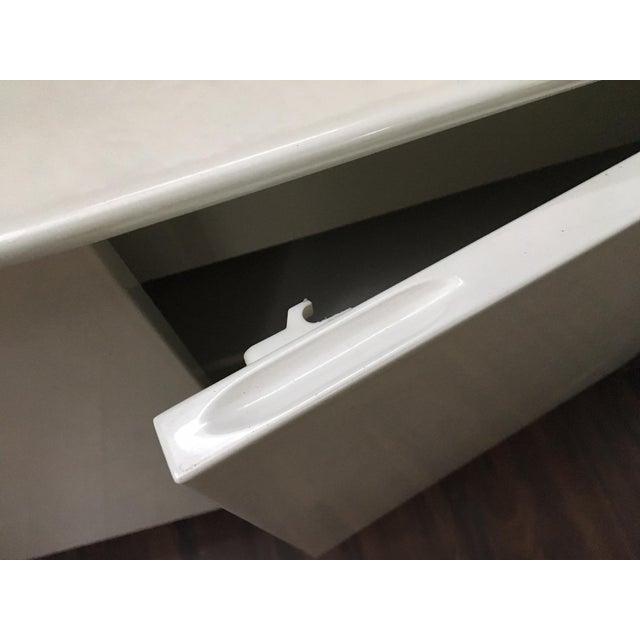 Modern Ello Art Deco White Pearlescent Console Cabinet Credenza - Image 9 of 10