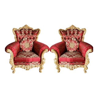 Louis XV/ Rococo /Baroque Armchairs - a Pair For Sale
