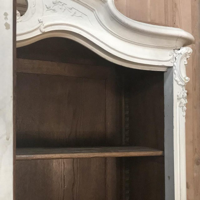 19th Century French Louis XV Painted Triple Armoire For Sale - Image 10 of 13