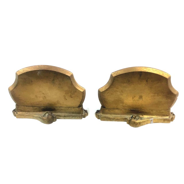 Art Nouveau Syroco Wood Neoclassical Italian Style Carved Wall Sconce Shelves - a Pair For Sale - Image 3 of 10