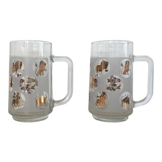 Vintage Horoscope Beer Steins - a Pair