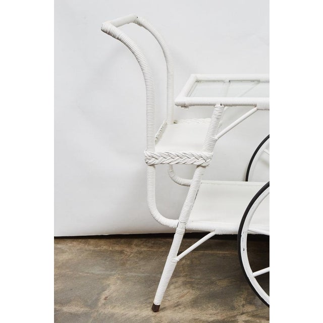 Wicker Drinks Cart For Sale - Image 5 of 5
