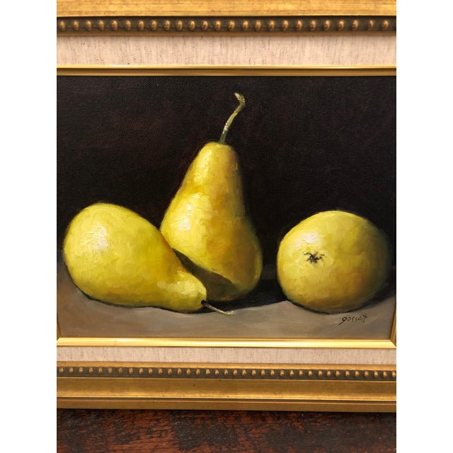 Realistic Still Life Paintings of Pears - a Pair For Sale - Image 4 of 8
