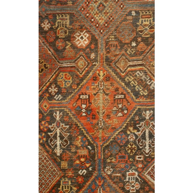 """Mid 19th Century 19th Century Qashqai Runner - 39"""" x 175"""" For Sale - Image 5 of 5"""