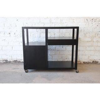 Harvey Probber Mid-Century Modern Ebonized Mahogany Bar Cart Preview