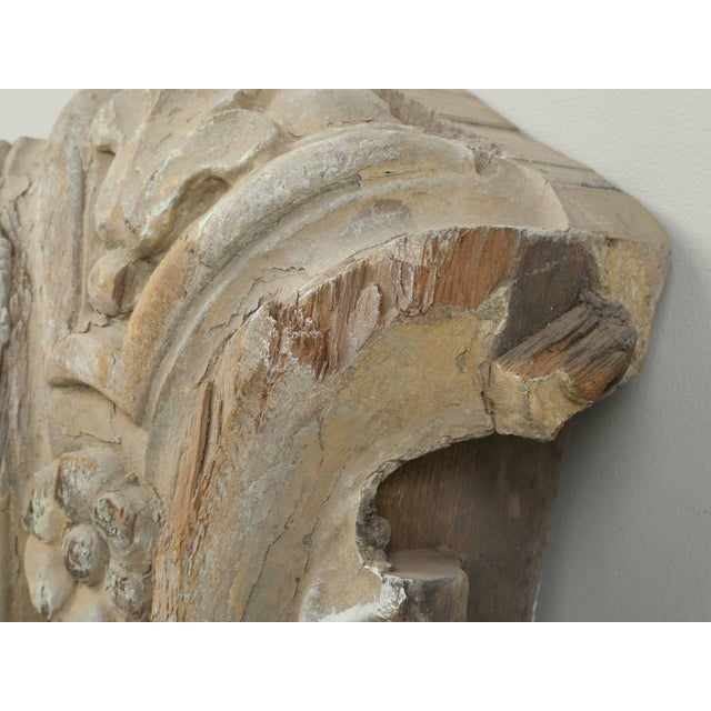Antique hand-carved Italian decorative element, that we believe is from the 1700s. The finish is a bit hard to describe,...