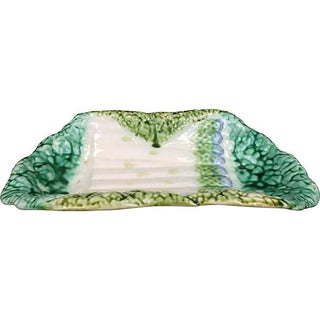 French Majolica Asparagus Serving Bowl Preview