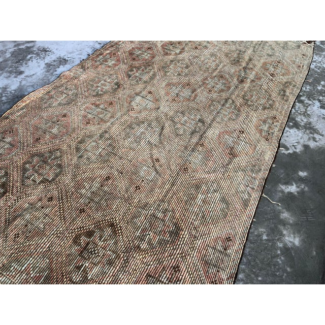 Turkish 1960s Vintage Handwoven Kilim Rug - 5′8″ × 11′4″ For Sale - Image 3 of 9