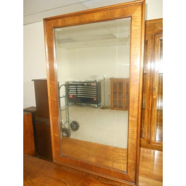 Lane Furniture Burl Maple Triple Dresser & Mirror - Image 7 of 8