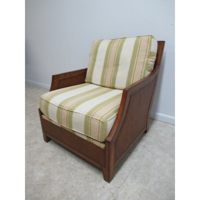 Contemporary Thomasville Tommy Bahama Style Wicker Lounge Chair For Sale - Image 3 of 13