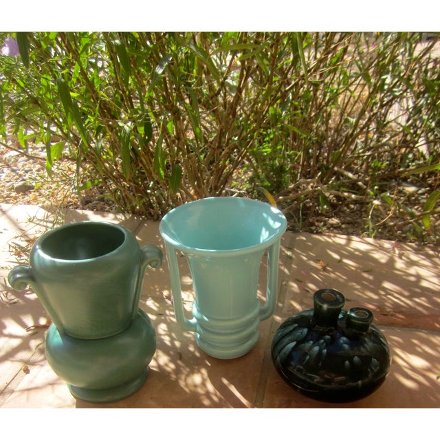Mid-Century Modernist Pottery Vases - Set of 3 - Image 9 of 10