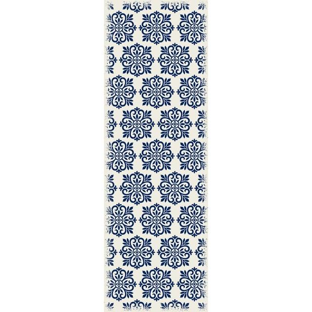 Blue & White Modern European Design Rug - 2' X 6' - Image 3 of 3