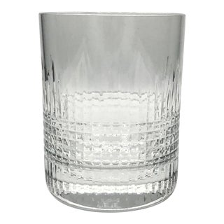 Baccarat Nancy Discontinued Extra Large Triple Old Fashioned Crystal Glass For Sale
