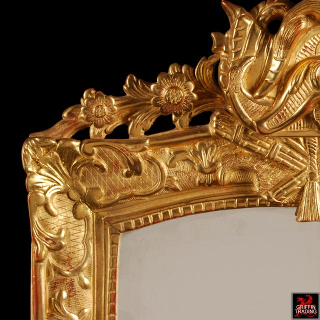 Superb French Regency Period Giltwood Wall Mirror For Sale In Dallas - Image 6 of 12