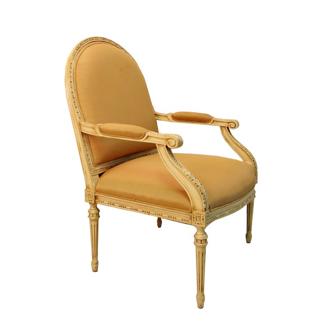 Cream Colored Accent Arm Chair - Image 2 of 3