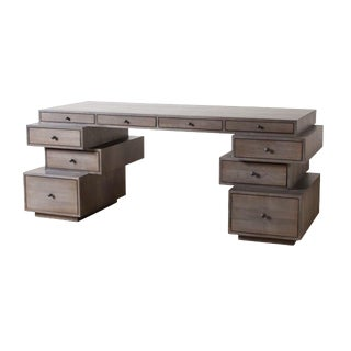 Contemporary Brad Staggered Writing Desk For Sale