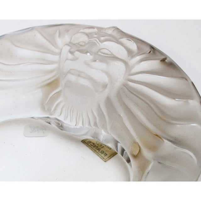 Art Deco Mid 20th Century Lalique Lions Head Ashtray For Sale - Image 3 of 4