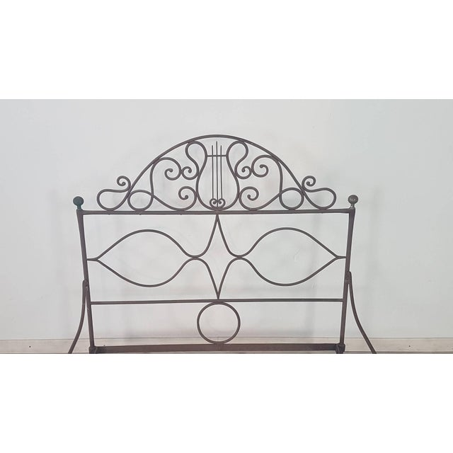 19th Century Empire Iron Single Bed For Sale - Image 6 of 13