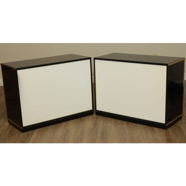 Black Contemporary Mirrored Door Cabinets - a Pair For Sale - Image 8 of 13