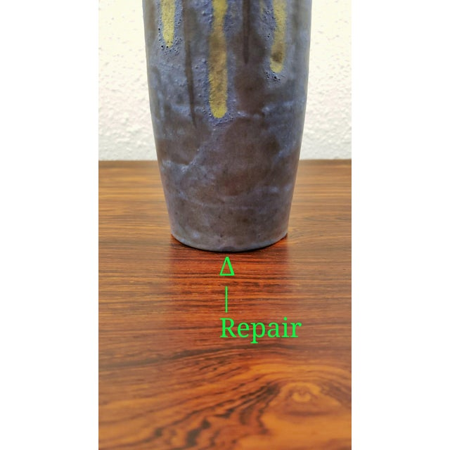 Slate Gray 1960s Hanns Welling 'Tundra' Vase for Ceramano For Sale - Image 8 of 9