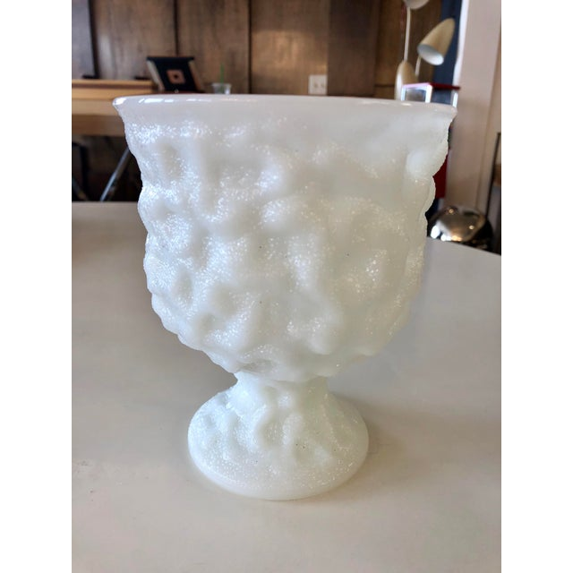 Mid 20th Century Vintage Eo Brody Milk Glass Urn Planter For Sale - Image 5 of 5