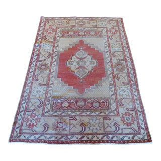 Vintage Turkish Oushak Rug - 3′7″ × 5′4″