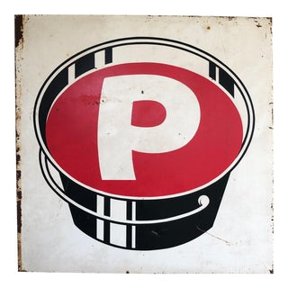 Vintage P Paint Bucket Sign For Sale